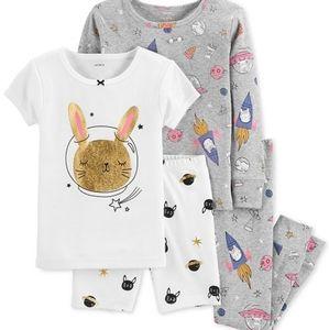 Carters 4 piece space bunny pajama set